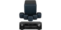 DENON AVR-S650H + Monitor Audio Mass 5.1 Conjunto Home Cinema