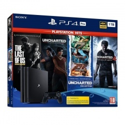 Sony Playstation 4 Pro 1TB + The last of us + Uncharted legacy + Uncharted collection + Uncharted 4